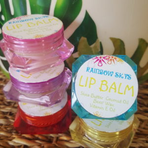 5ml colourful tubs of Lip Balm with Shea Butter & Coconut Oil