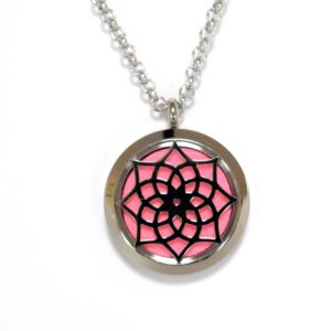 Pendant of an Essential Oil Locket with a Star Flower