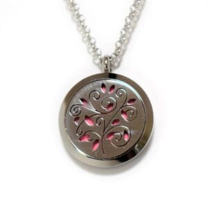 Pendant of an essential oil locket with a vine pattern