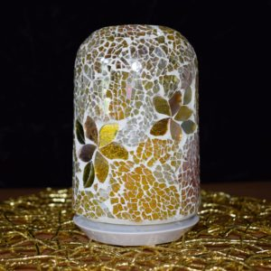 Gold glass mosaic electric diffuser