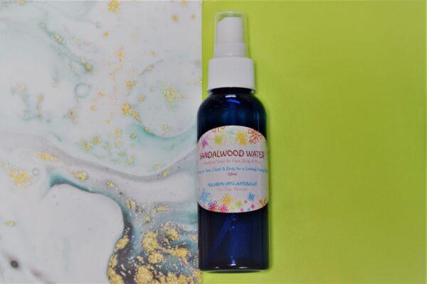 """A spray bottle of """"Sandalwood Water"""""""